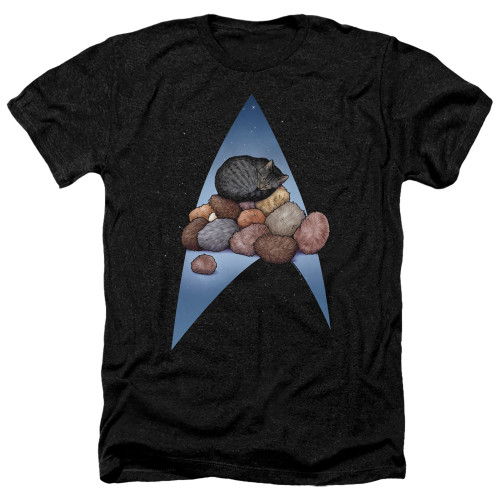 Image for Star Trek Cats Heather T-Shirt - Five Year Nap