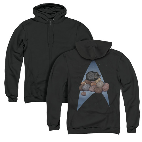 Image for Star Trek Cats Zip Up Back Print Hoodie - Five Year Nap