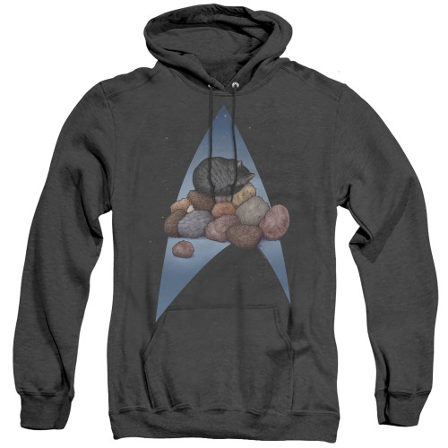 Image for Star Trek Cats Heather Hoodie - Five Year Nap