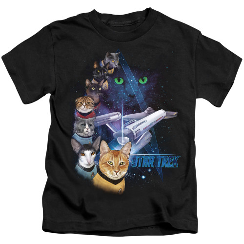 Image for Star Trek Cats Kids T-Shirt - Feline Galaxy