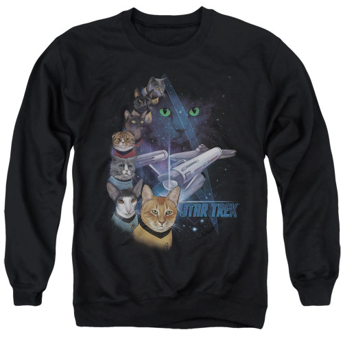 Image for Star Trek Cats Crewneck - Feline Galaxy