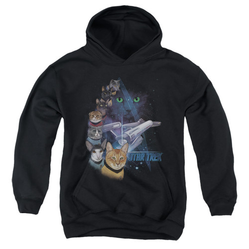 Image for Star Trek Cats Youth Hoodie - Feline Galaxy