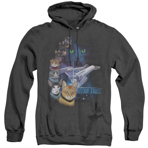 Image for Star Trek Cats Heather Hoodie - Feline Galaxy