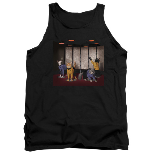 Image for Star Trek Cats Tank Top - Beam Meow Up