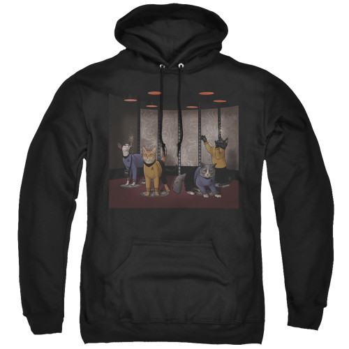 Image for Star Trek Cats Hoodie - Beam Meow Up