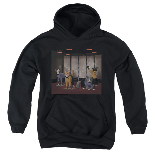 Image for Star Trek Cats Youth Hoodie - Beam Meow Up