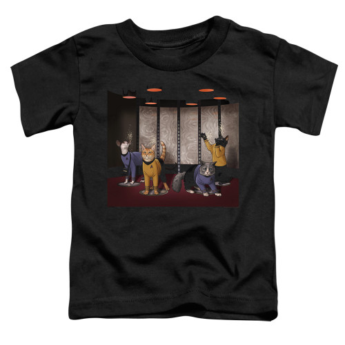 Image for Star Trek Cats Toddler T-Shirt - Beam Meow Up