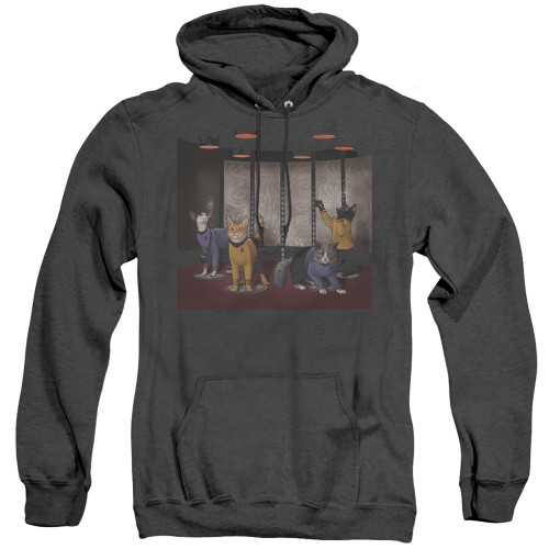 Image for Star Trek Cats Heather Hoodie - Beam Meow Up
