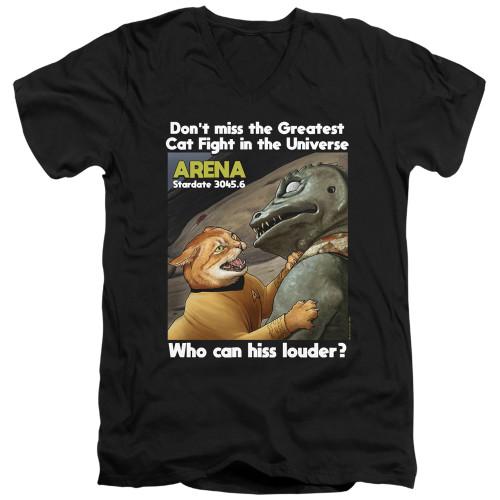 Image for Star Trek Cats T-Shirt - V Neck - Cat Fight