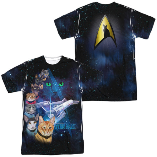 Image for Star Trek Cats Sublimated T-Shirt - Cast of Cats 100% Polyester