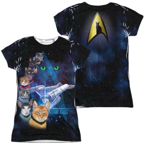 Image for Star Trek Cats Girls Sublimated T-Shirt - Cast of Cats