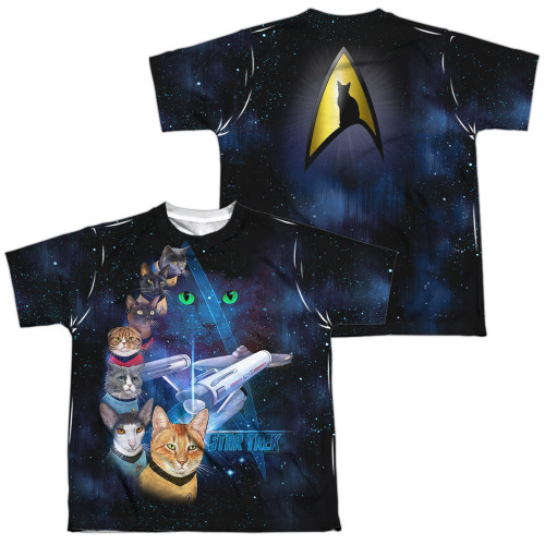 Image for Star Trek Cats Youth Sublimated T-Shirt - Cast of Cats