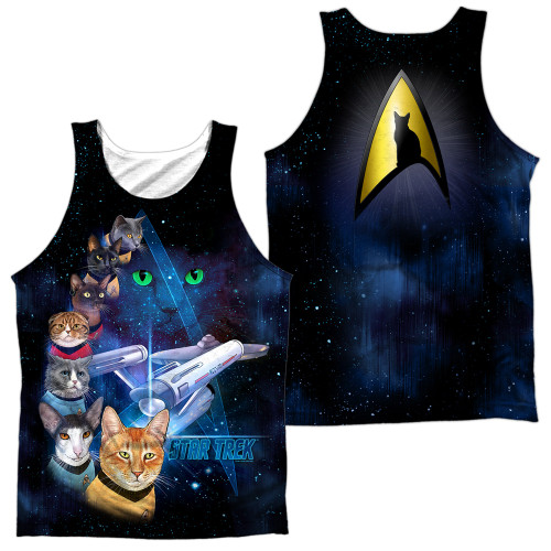 Image for Star Trek Cats Sublimated Tank Top - Cast of Cats