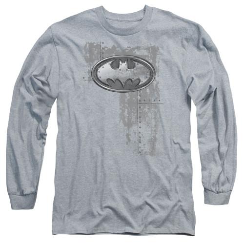 Image for Batman Long Sleeve T-Shirt - Rivited Metal Logo