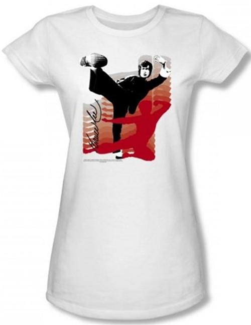 Image for Bruce Lee Girls T-Shirt - Kick It! T-Shirt