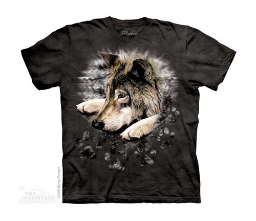 Image for The Mountain Youth T-Shirt - Wolf in Dye Paw