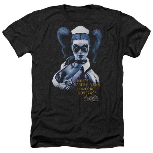 Image for Batman Heather T-Shirt - Arkham Harley Quinn
