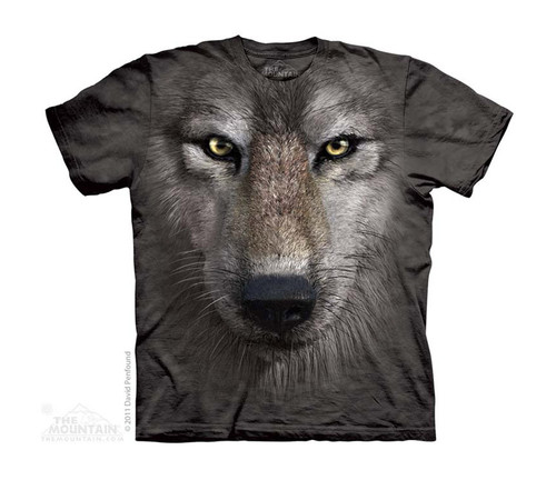 Image for The Mountain Youth T-Shirt - Wolf Face