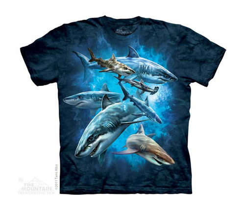 Image for The Mountain Youth T-Shirt - Shark Collage
