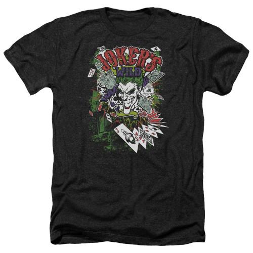 Image for Batman Heather T-Shirt - Jokers Wild