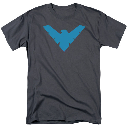 Image for Batman T-Shirt - Nightwing Symbol Charcoal