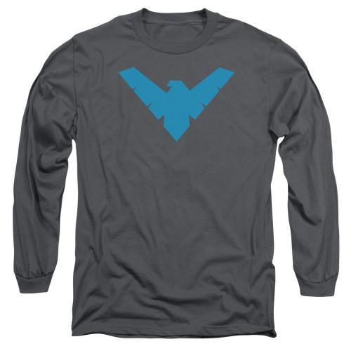Image for Batman Long Sleeve T-Shirt - Nightwing Symbol Charcoal