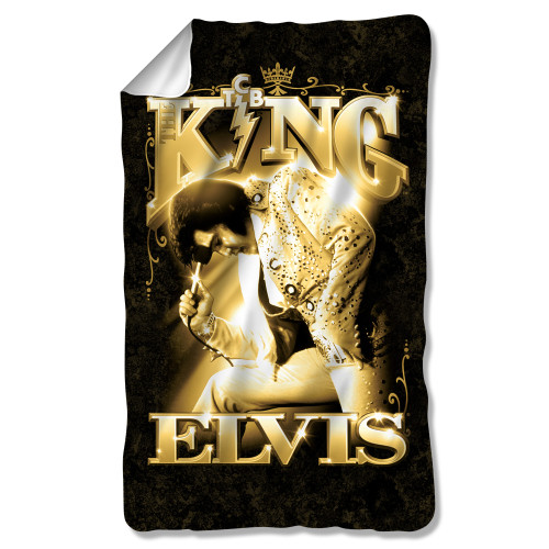 Image for Elvis Fleece Blanket - the King