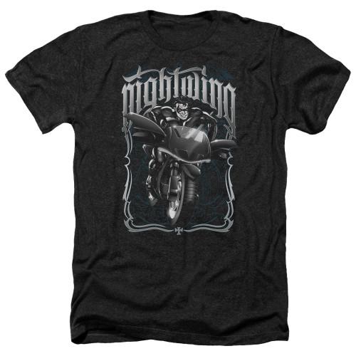 Image for Batman Heather T-Shirt - Nightwing Biker