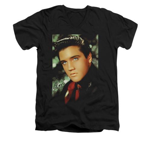 Image for Elvis V-Neck T-Shirt Red Scarf