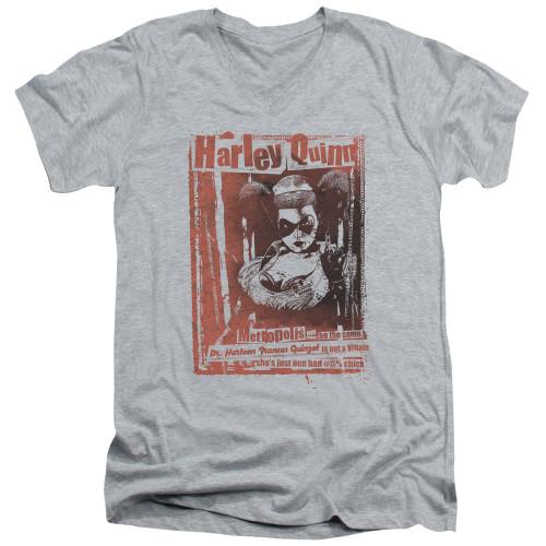 Image for Batman T-Shirt - V Neck - Dr. Quinn