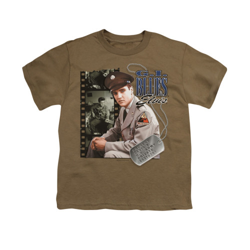 Image for Elvis Youth T-Shirt - GI Blues