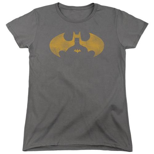 Image for Batman Womans T-Shirt - Bat Symbol Knockout