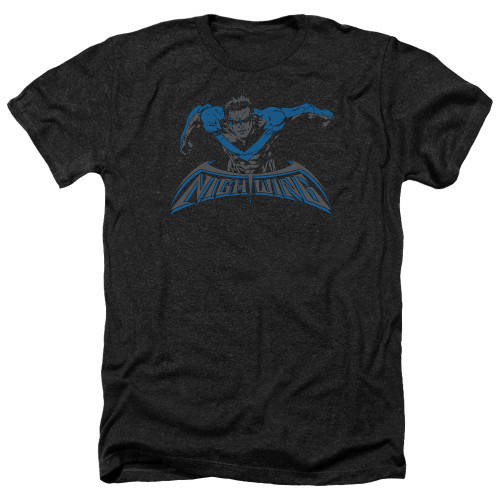 Image for Batman Heather T-Shirt - Wing of the Night
