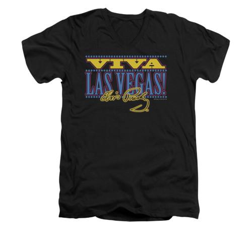 Image for Elvis V-Neck T-Shirt Viva Las Vegas