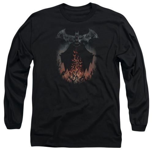 Image for Batman Long Sleeve T-Shirt - Smoke & Fire