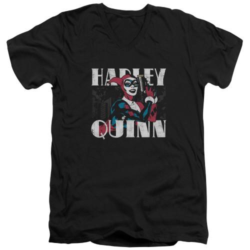 Image for Batman T-Shirt - V Neck - Harley Bold