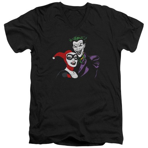 Image for Batman T-Shirt - V Neck - Joker & Harley