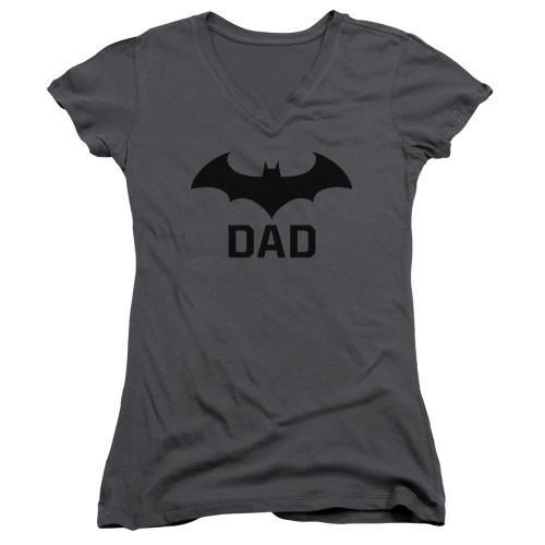 Image for Batman Girls V Neck T-Shirt - Hush Dad