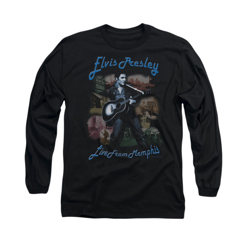 Image for Elvis Long Sleeve T-Shirt - Memphis