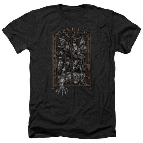 Image for Batman Heather T-Shirt - Arkhams Gate
