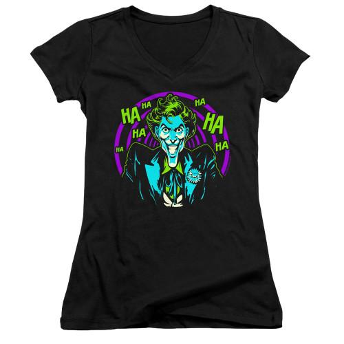 Image for Batman Girls V Neck T-Shirt - Hahaha