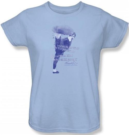 Image for Bruce Lee Womans T-Shirt - 10,000 Kicks Woman's