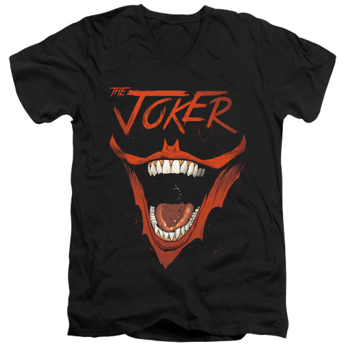 Image for Batman T-Shirt - V Neck - Joker Bat Laugh