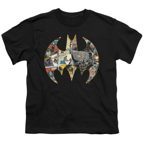 Image for Batman Youth T-Shirt - Collage Shield