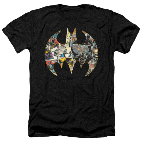 Image for Batman Heather T-Shirt - Collage Shield