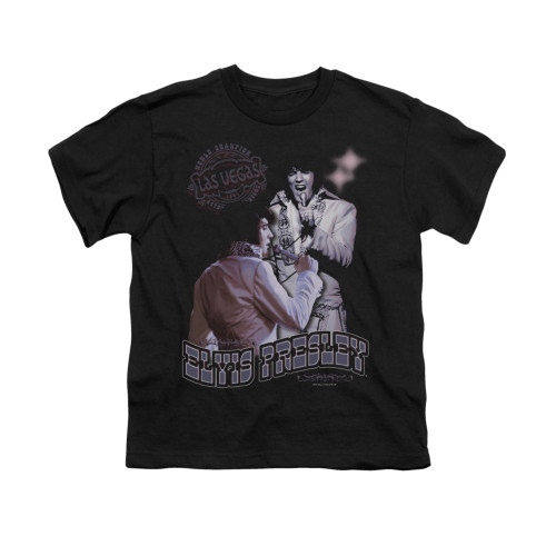Image for Elvis Youth T-Shirt - Violet Vegas
