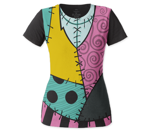 Image for The Nightmare Before Christmas Women's Dolman T-Shirt - Sally Costume