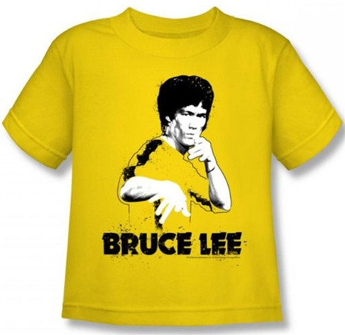 Image for Bruce Lee Kids T-Shirt - Yellow Splatter Suit