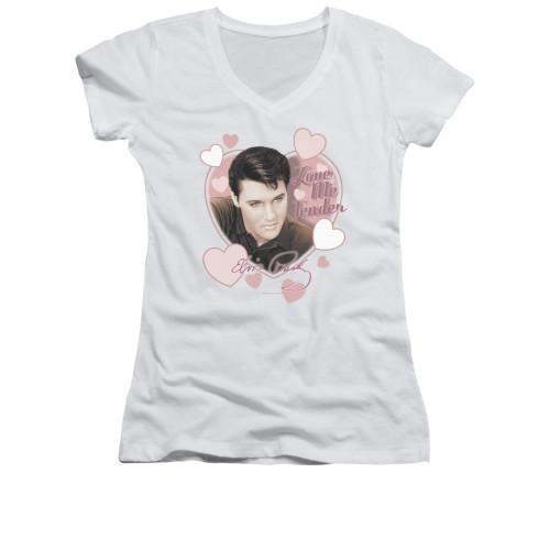 Image for Elvis Girls V Neck T-Shirt - Love Me Tender