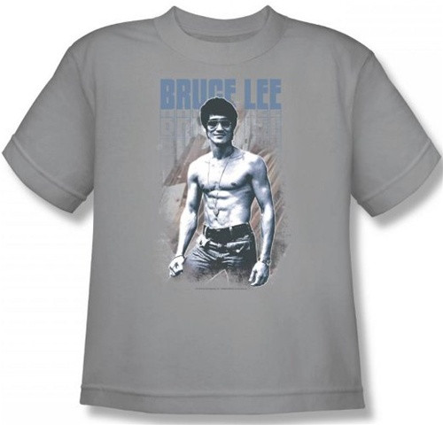 Image for Bruce Lee Youth T-Shirt - Blue Jean Lee